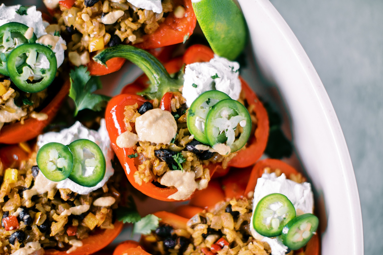 Vegan Southwestern Stuffed Peppers