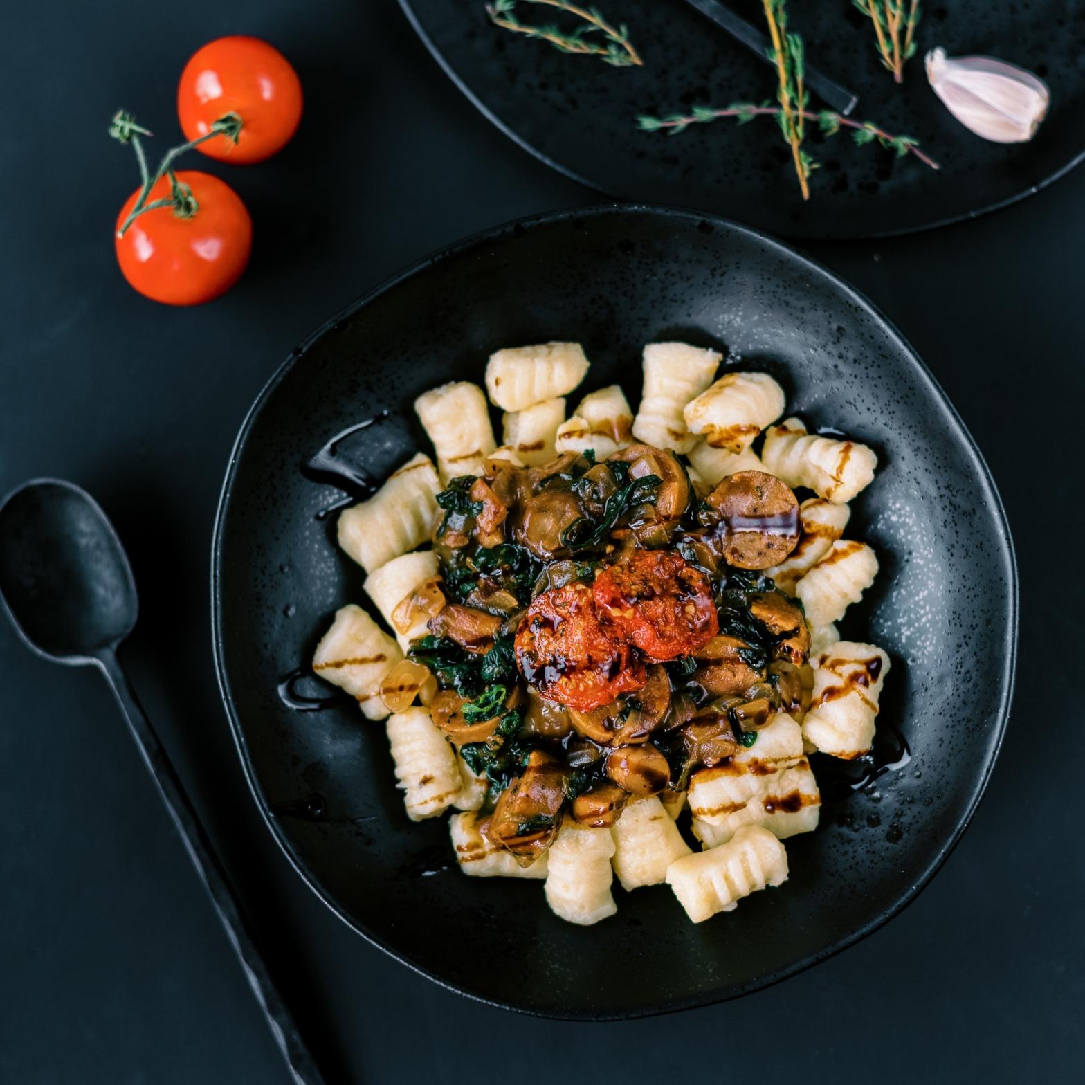 Vegan Gnocchi with Balsamic Mushroom Sauce